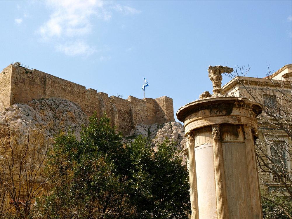 Lysicrates Monument in Athens (Μνημείο του Λυσικράτη/Φανάρι του Διογένους), built 334/335 BC