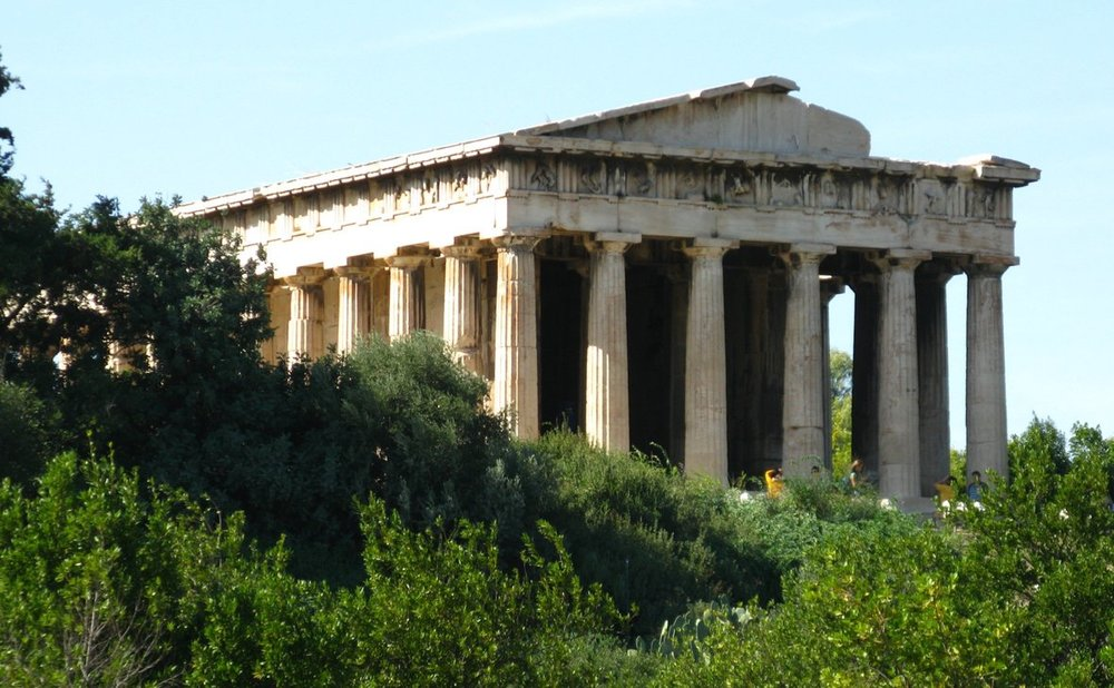 Temple of Hephaestus (Ναός Ηφαίστου) in Athens, built 450 BC
