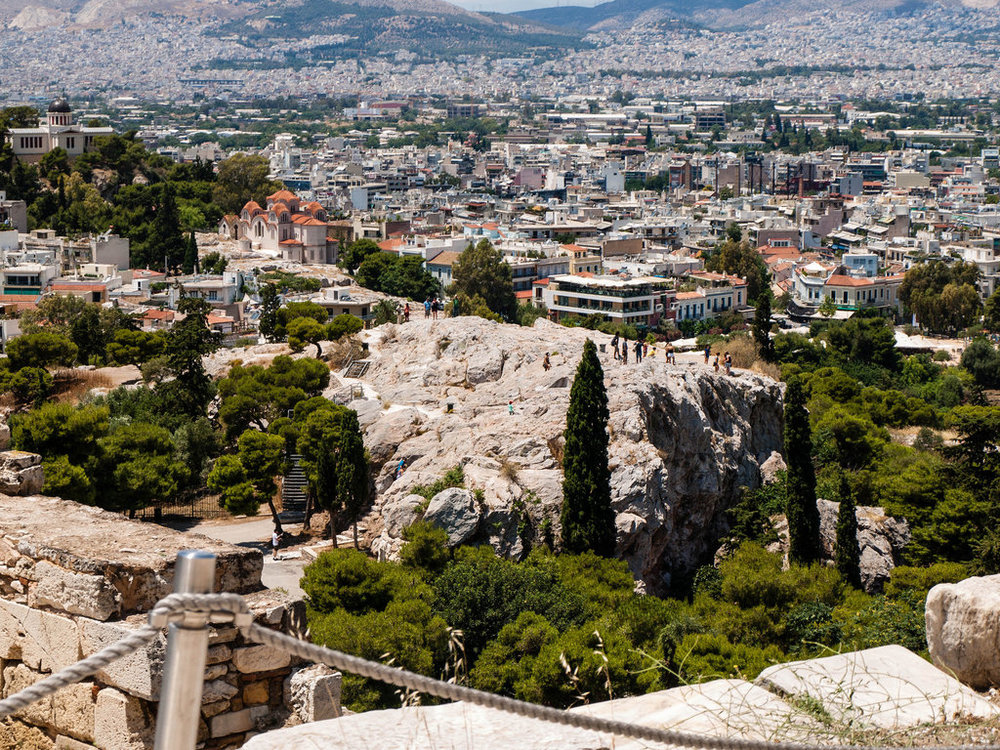 Areopagus Hill (λόφος ΆρειοςΠάγος) in Athens