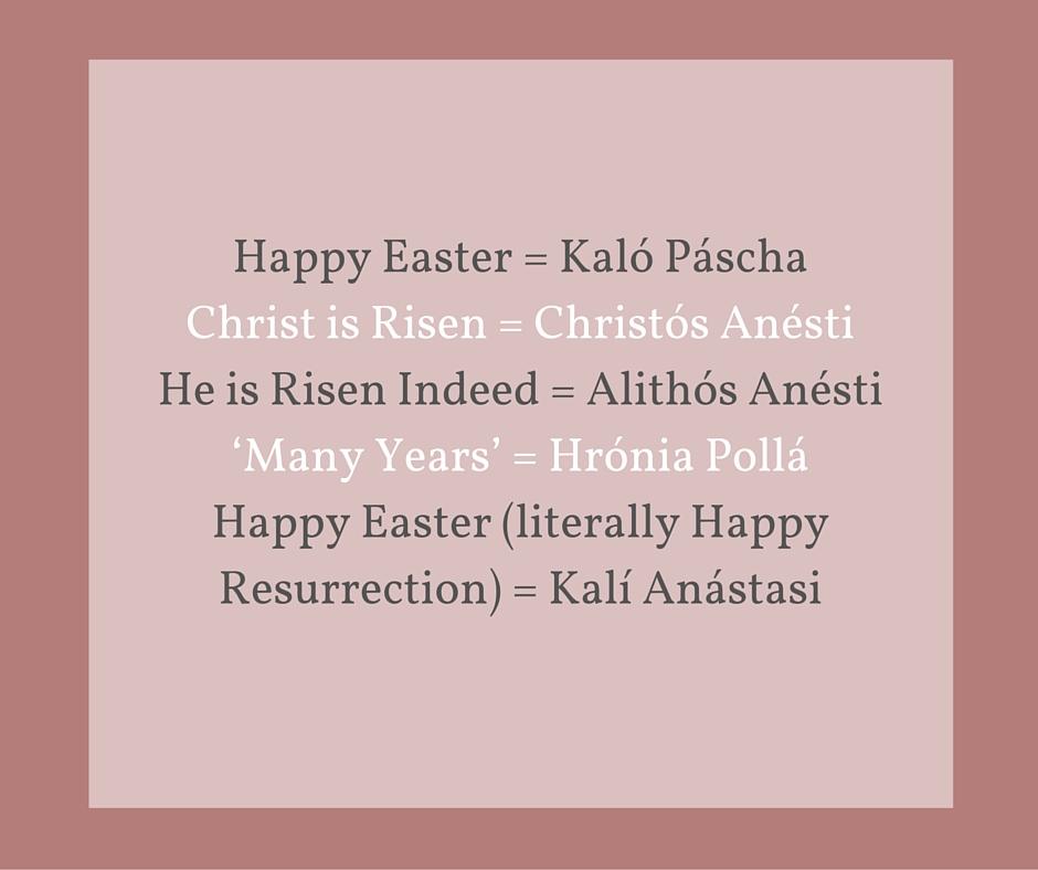 Greek Easter glossary