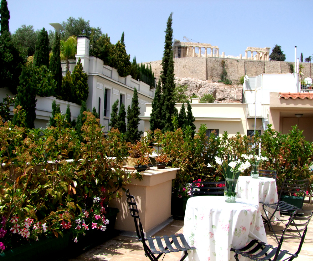 The Lalaounis' Museum terrace is a hidden gem in the city (Picture courtesy Ilias Lalaounis Jewelry Museum)