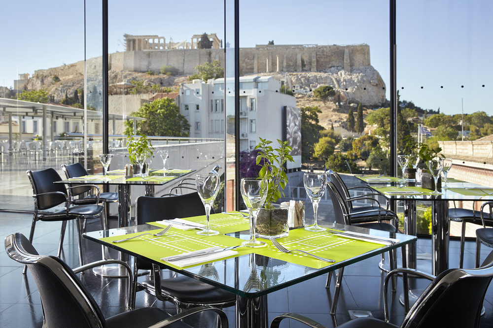 Stunning view from the museum's top floor (Picture by Giorgos Vitsaropoulos, courtesy of the Acropolis Museum)