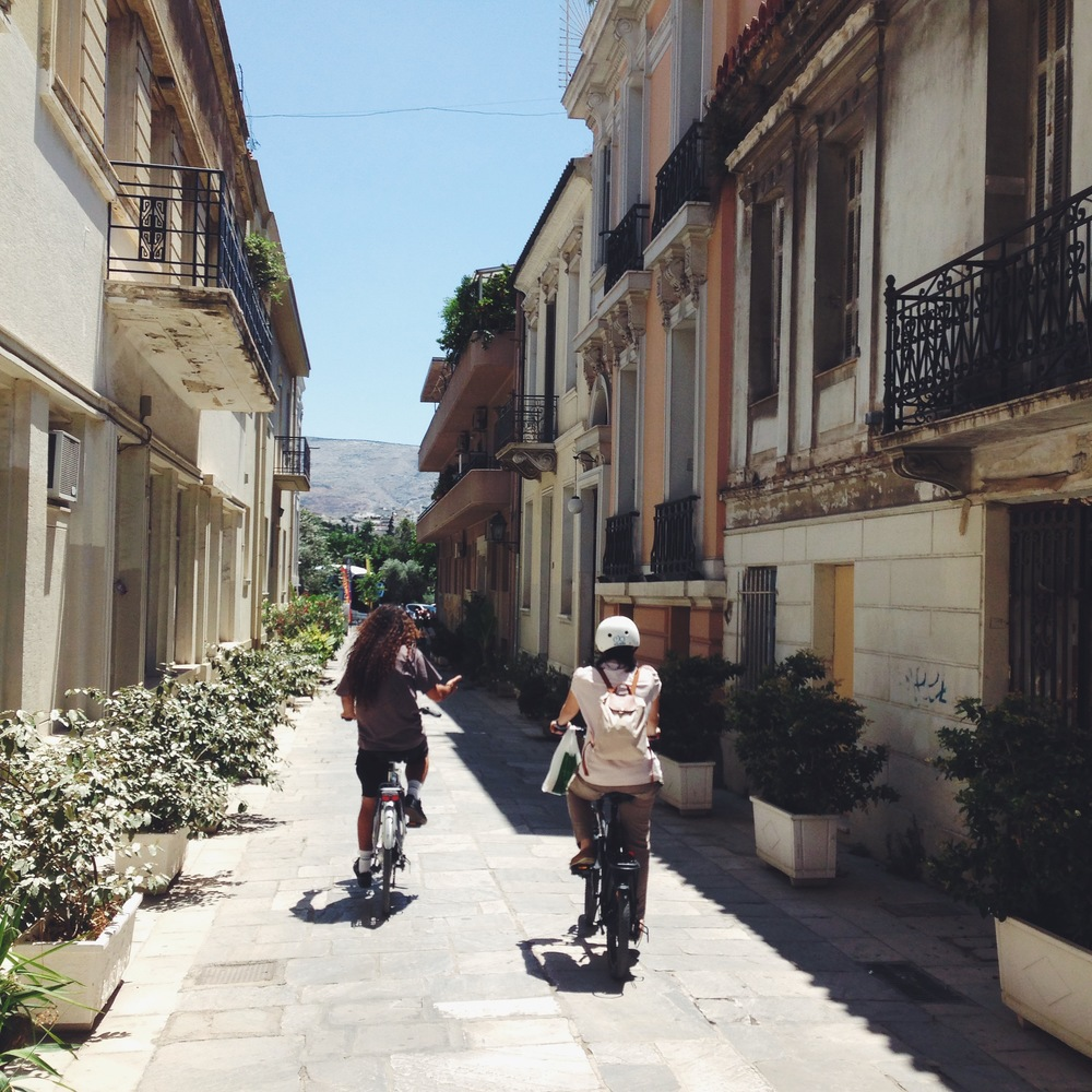 eBike touring in the historic Athens centre (Picture by Katherine Poseidon)