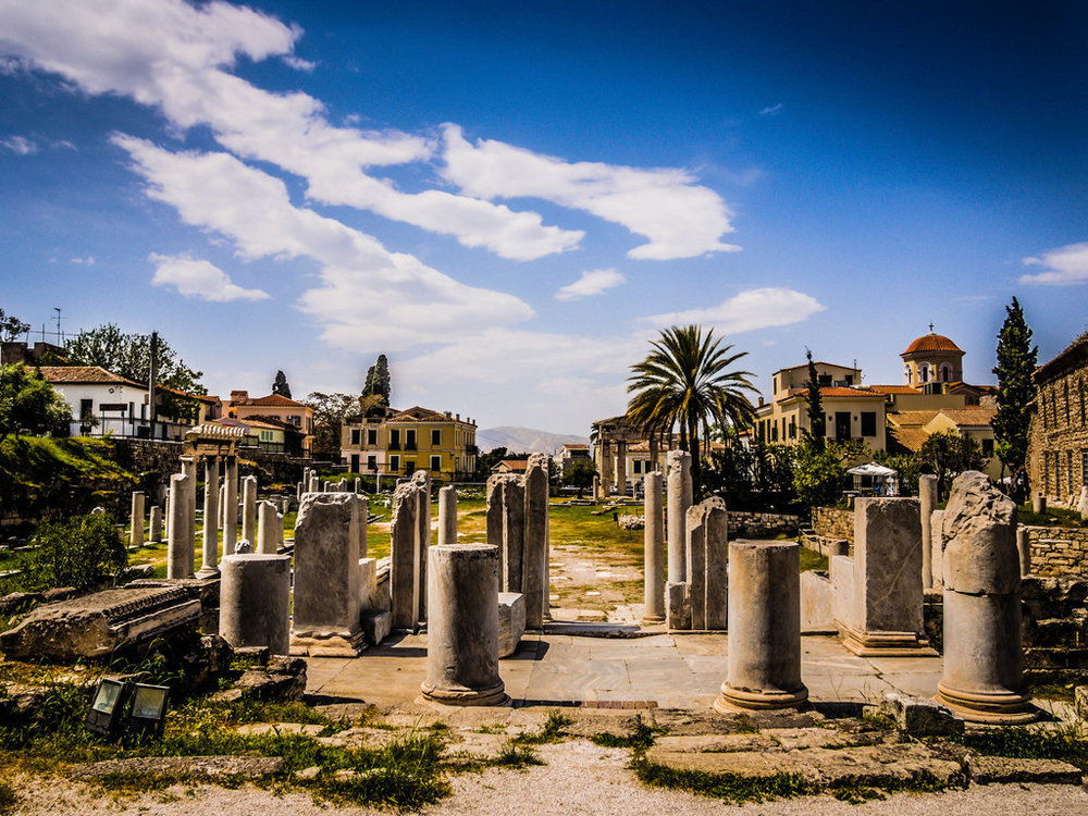 Meander past the Roman Agora and the Tower of the Winds (Picture via Flickr)