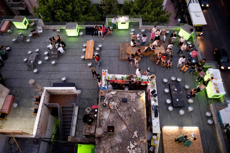 The ever-popular rooftop bar of BIOS (Picture via  Website )