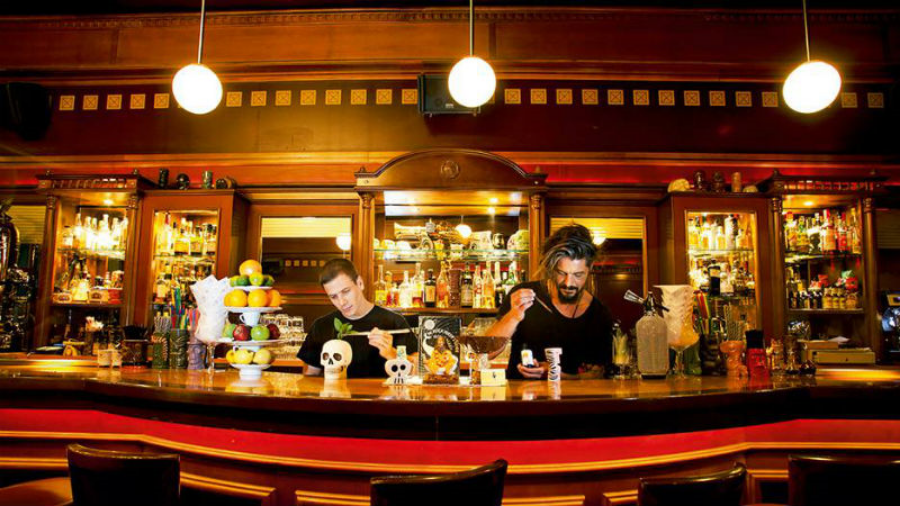 Mixologists in action inside bar '42' (Picture via  Facebook )