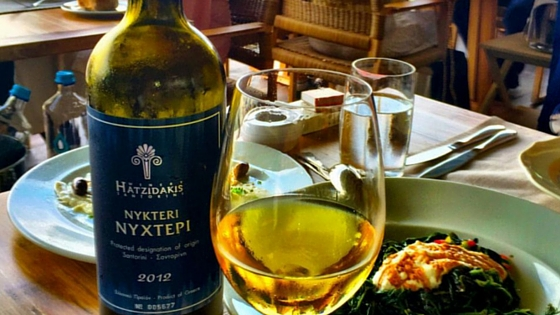 Hatzidakis winery's 'Nikteri' from Santorini (Picture by  Kosmas T. )