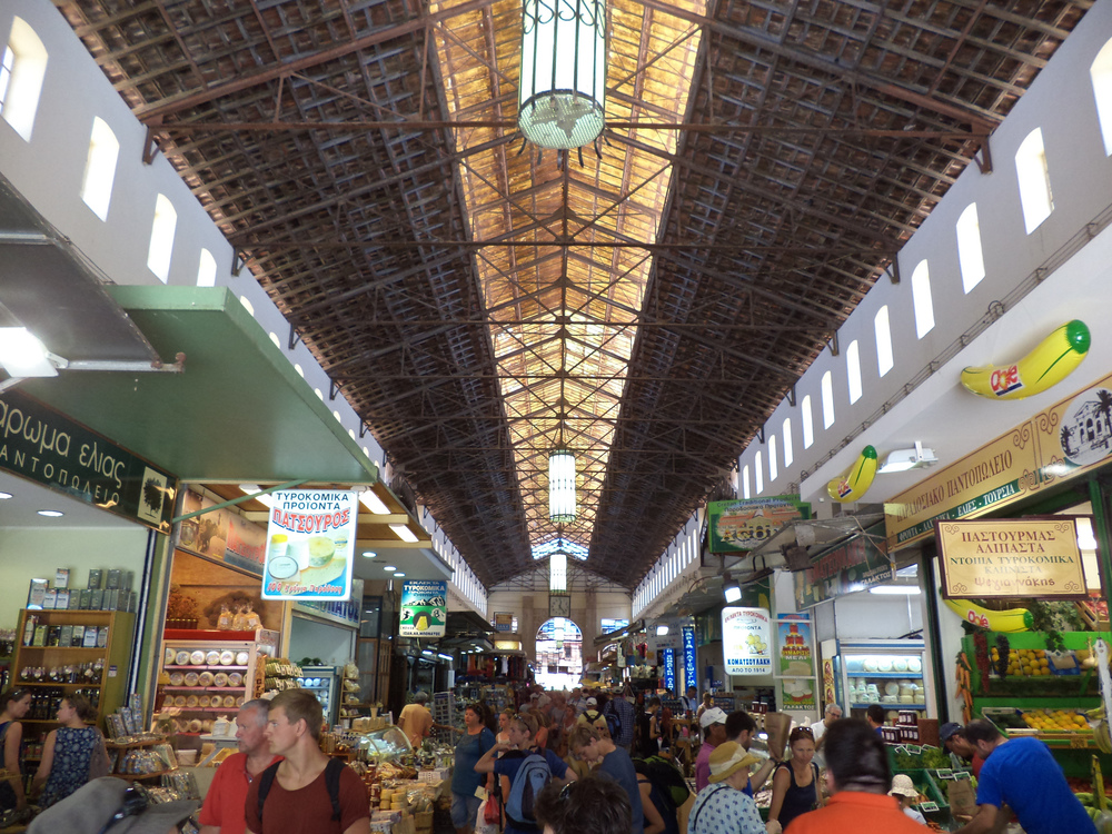 The imposing Chania food market (Picture by Stefanos Vasdekis/Flickr)