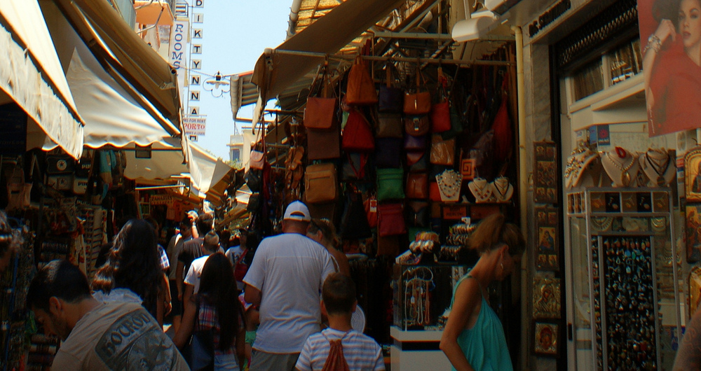 The 'leather streeet' of Stivanadika (Picture by Olivier Duquesne/Flickr)