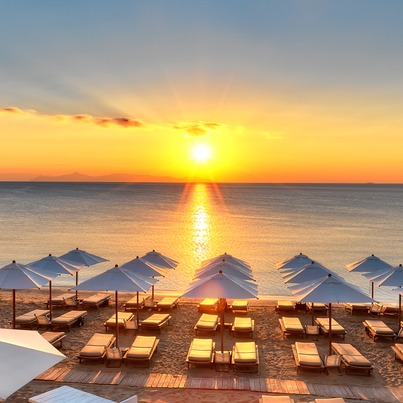 A classic Greek chic option, Astir Beach (Picture courtesy of  Mountain Leon )