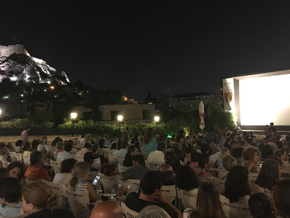 View of the Acropolis from the romantic Cine Paris in Plaka neighborhood (Picture by cfiliagkouridou/Instagram)