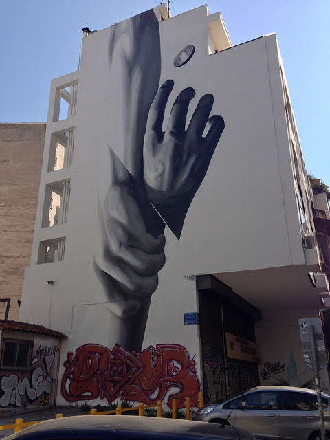 A sneak peak to Athens' street art at Koletti street in Exarcheia (Picture by Dimitris Kamaras / Flickr)