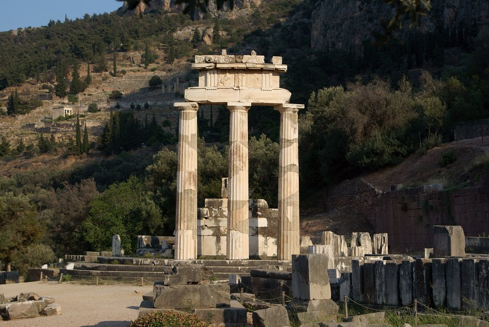 Delphi, the place the Ancient Greeks regarded as the center of the world