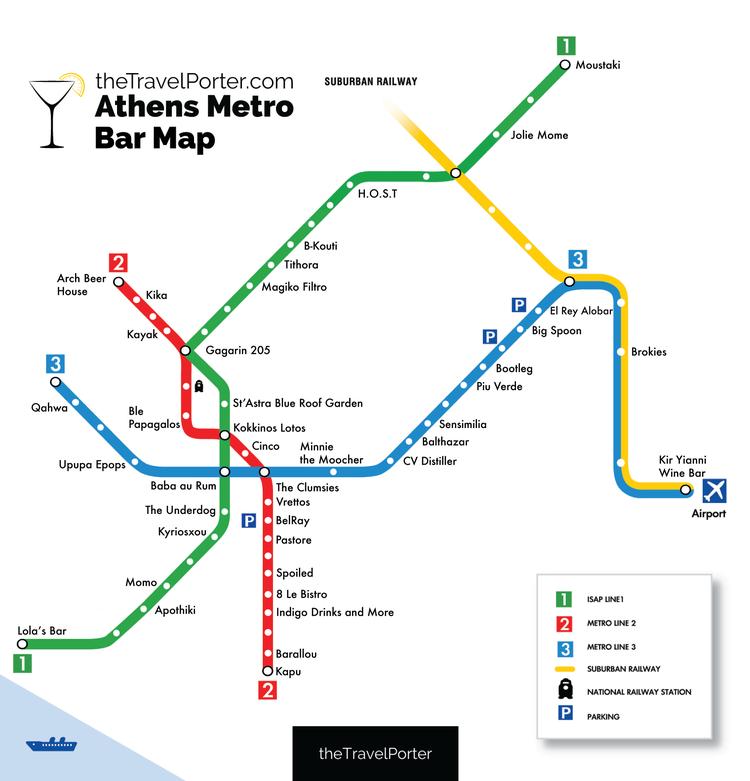 χαρτησ μετρο αθηνα The Ultimate Bar Crawl: Athens' First Ever Metro Bar Map — The  χαρτησ μετρο αθηνα