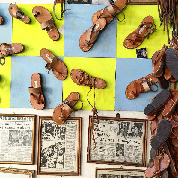 You NEED a pair of ancient Greek sandals, don't you? (Picture by @shopbird / Instagram)