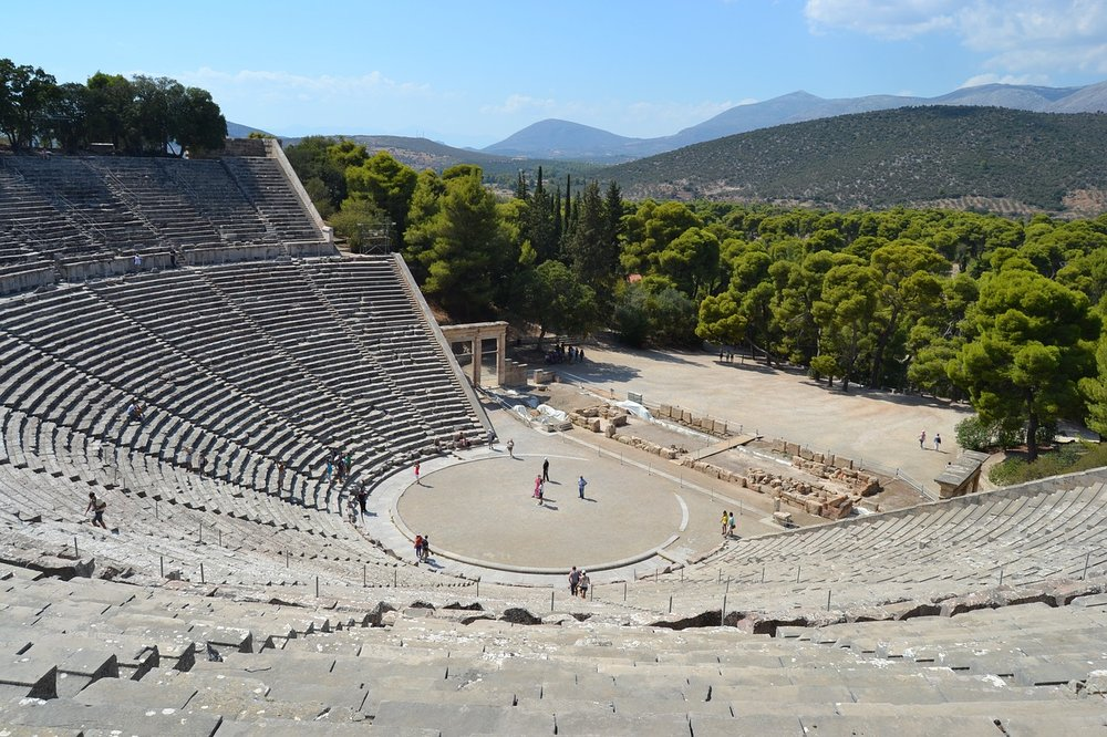 The incredible ancient theatre of Epidaurus.