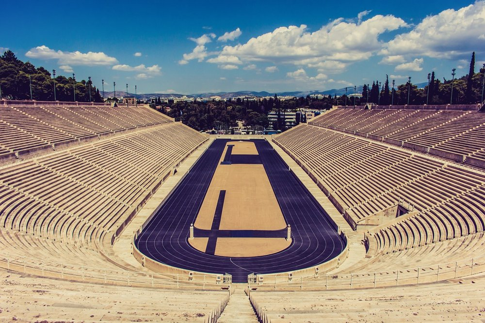 The impressive Ancient Panathenaic Stadium.