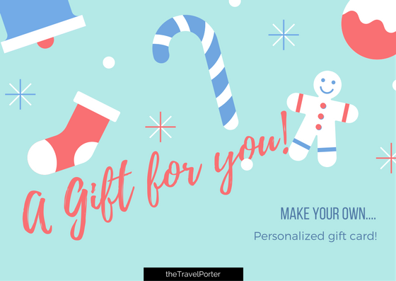 personalized gift card thetravelporter