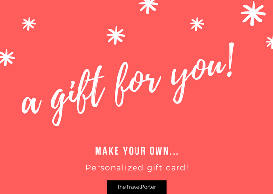 personalized gift cards christmas