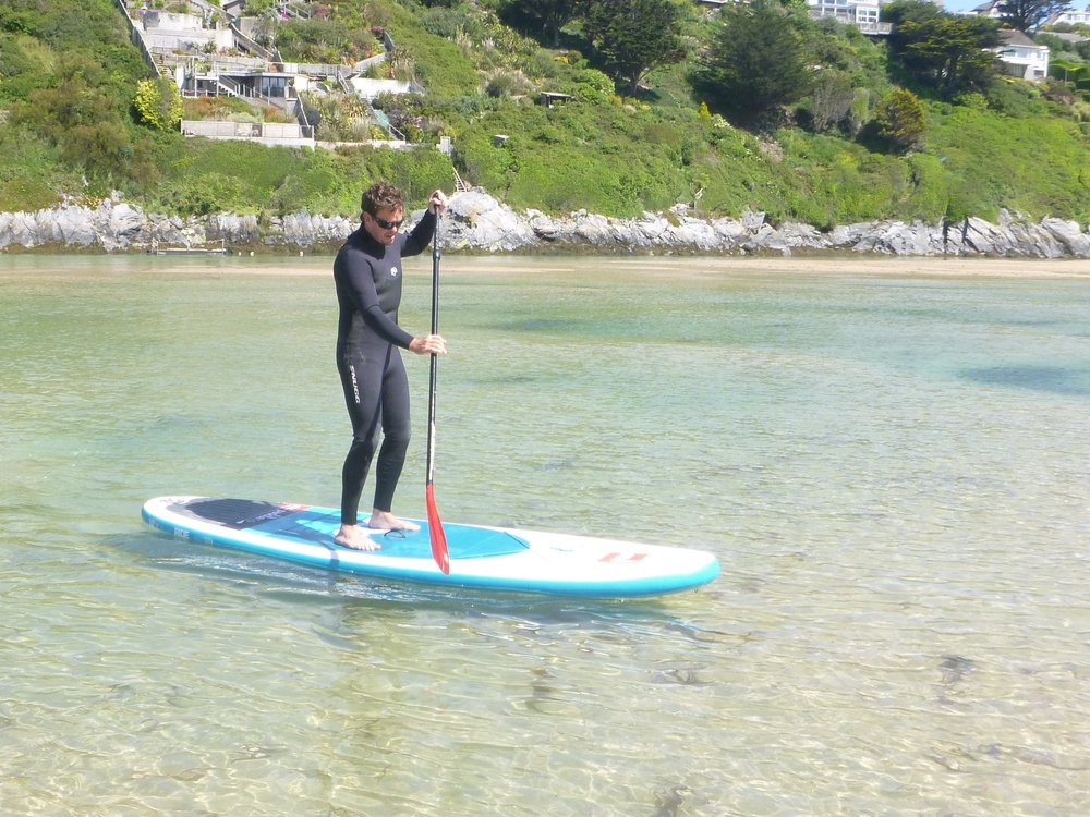 Getting the hang of it - Crantock SUP