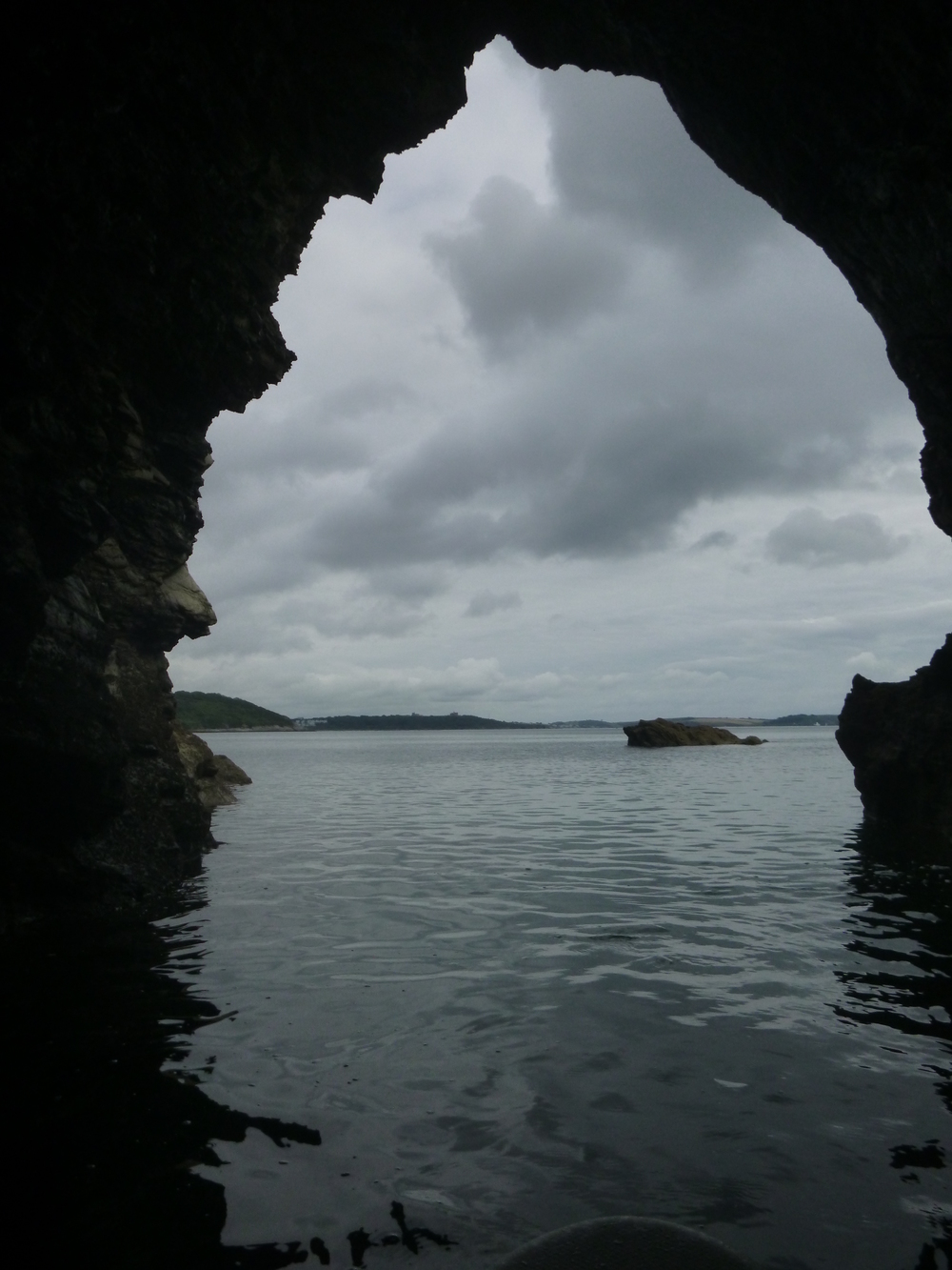 SUP into a Cave near MaenPorth