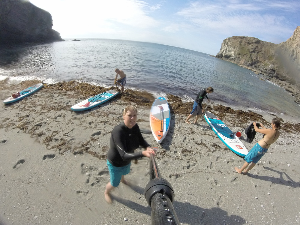 Secluded picnic spot near Portreath - SUP Adventure