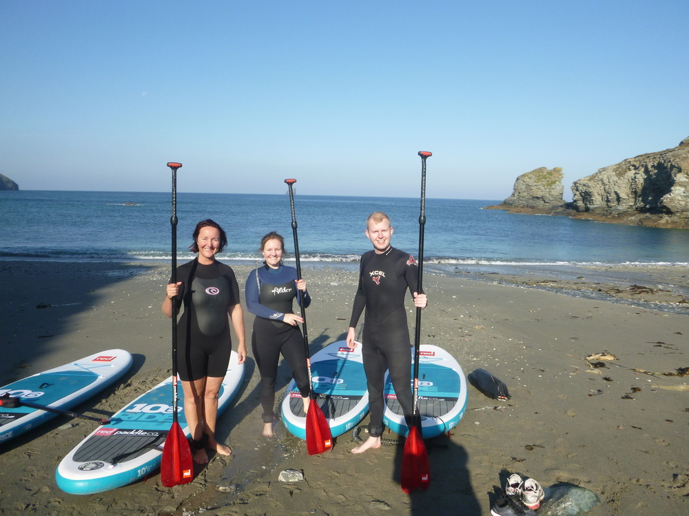 Idyllic conditions at Trevellas  - SUP Tour