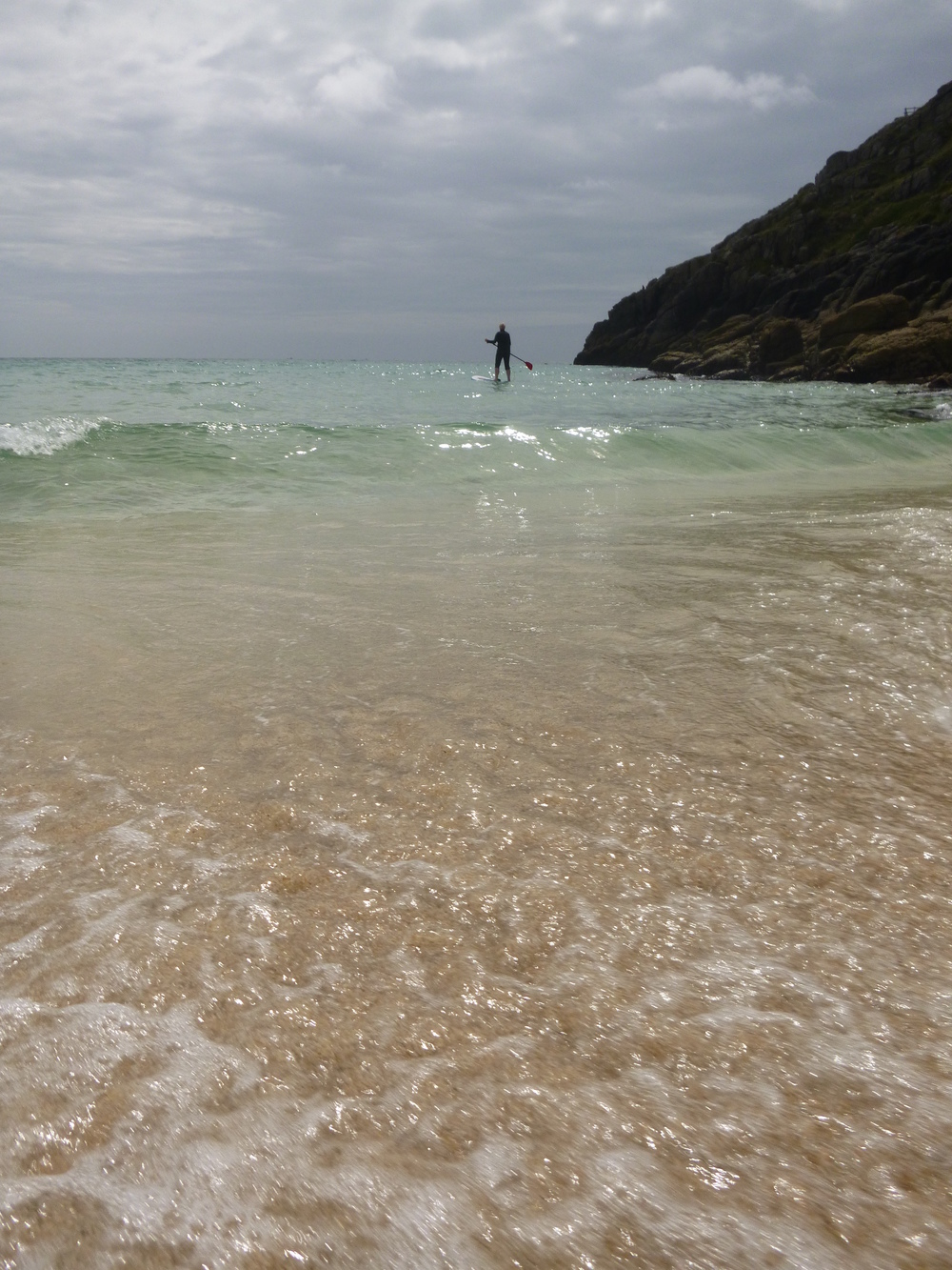 Hard not to smile launching from Porthcurno