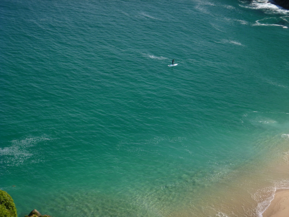 SUP Porthcurno Blues