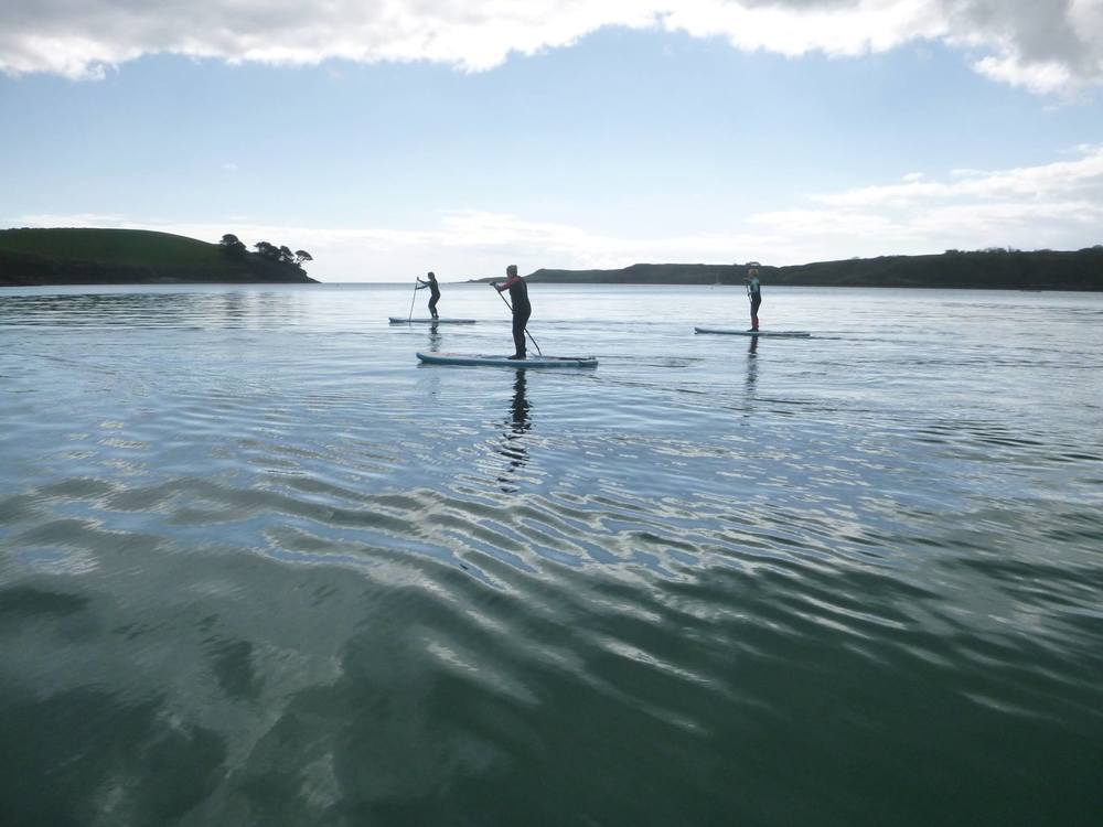 SUP Tour looking to the mouth of the River Helford