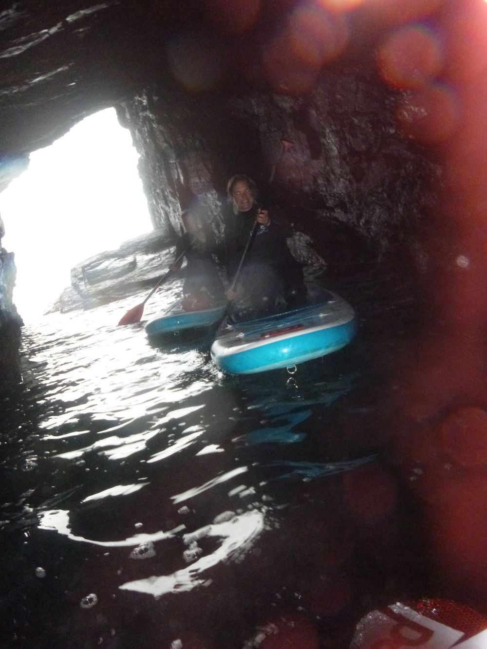 How far does it go? SUP Cave Explore Cornwall