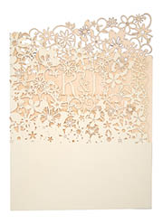 View Fairytale wedding invitations and more laser cut wedding stationery in Chartula Fairytale Natural Vintage Peach.
