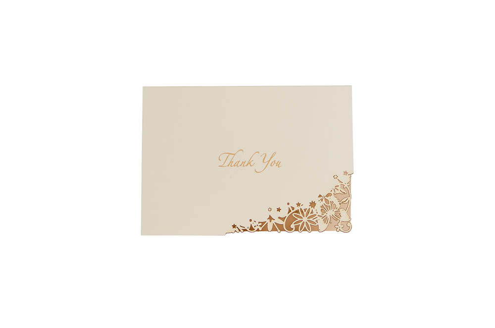 Chartula | Fairytale Bespoke Laser Cut Thank You Card | Natural #LuxuryWedding #FairytaleWedding #PrincessBride | www.chartula.co.uk