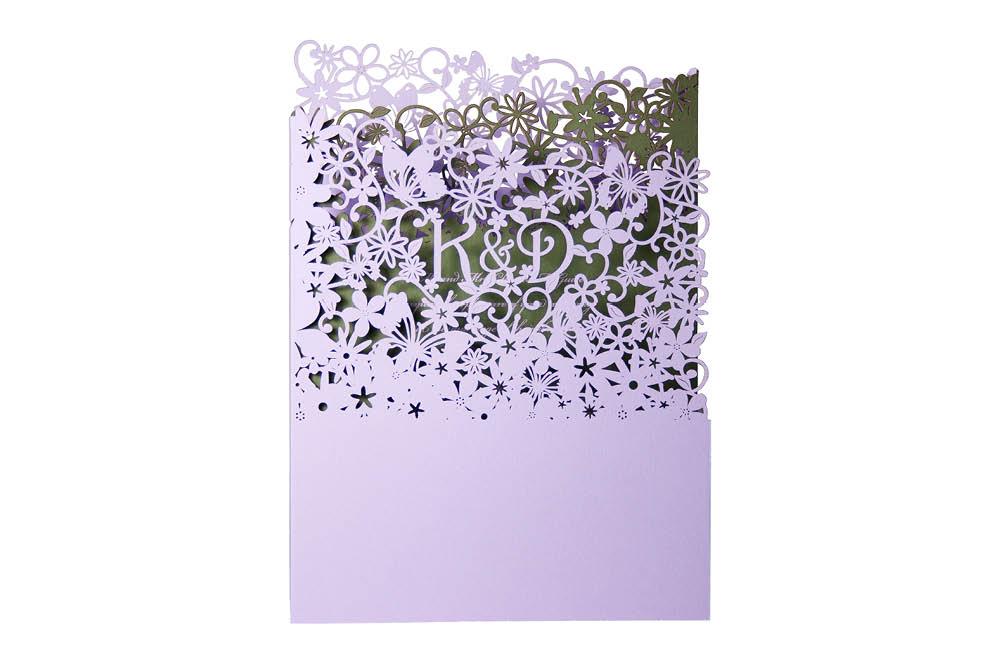 Chartula | Fairytale Bespoke Laser Cut Invitation | Lavender & Sage #LuxuryWedding #LaserCutInvitations #FairytaleWedding | www.chartula.co.uk