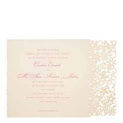 View Fairytale wedding invitations and information for Chartula Petite Fairytale Vintage Peach.