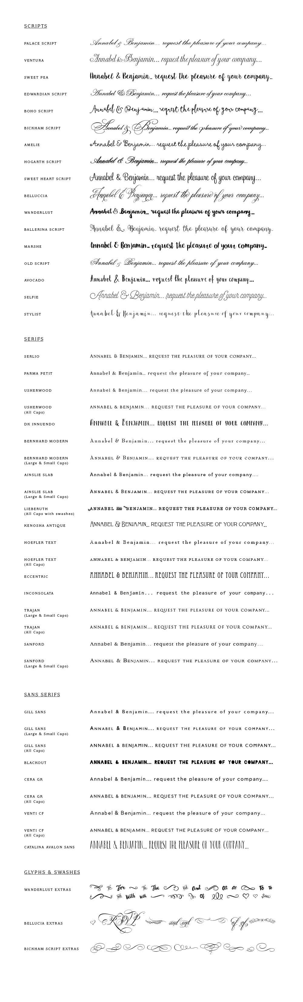 wedding scripts fonts