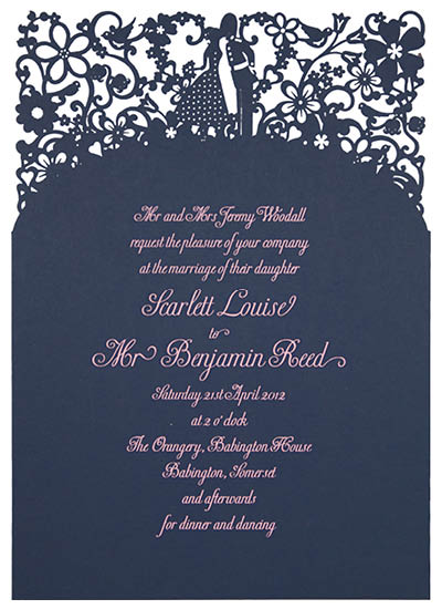 A Little Romance Invitation With 'Bride's Parents Hosting' wording