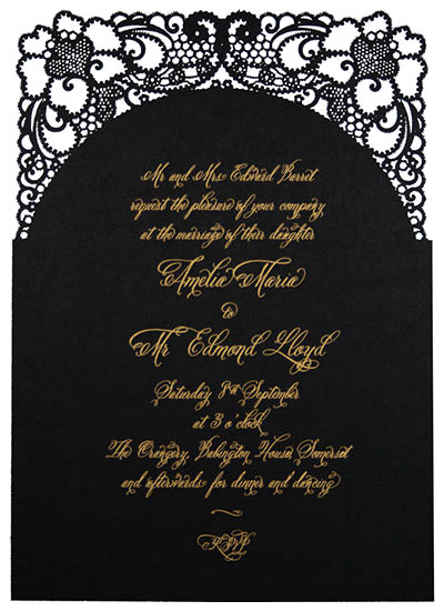 A Little Lace Invitation  With 'Bride's Parents Hosting' wording