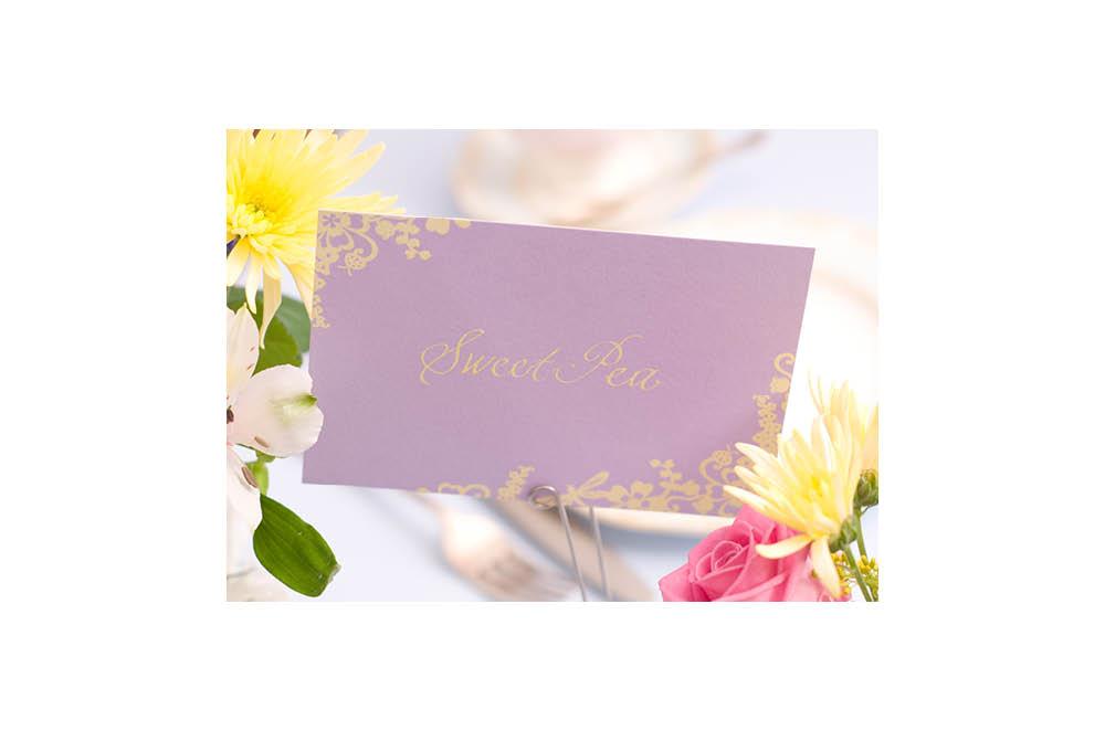 Chartula | Beau Jardin Bespoke Table Name Cards | Lavender #LuxuryWedding #FairytaleWedding #GardenWedding | www.chartula.co.uk
