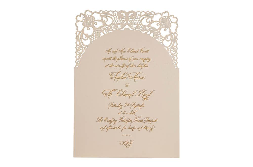 Chartula | A Little Lace Laser Cut Invitation | Mist #LaceInvitation #BohoWedding #VintageWedding #LaserCutInvitation | www.chartula.co.uk