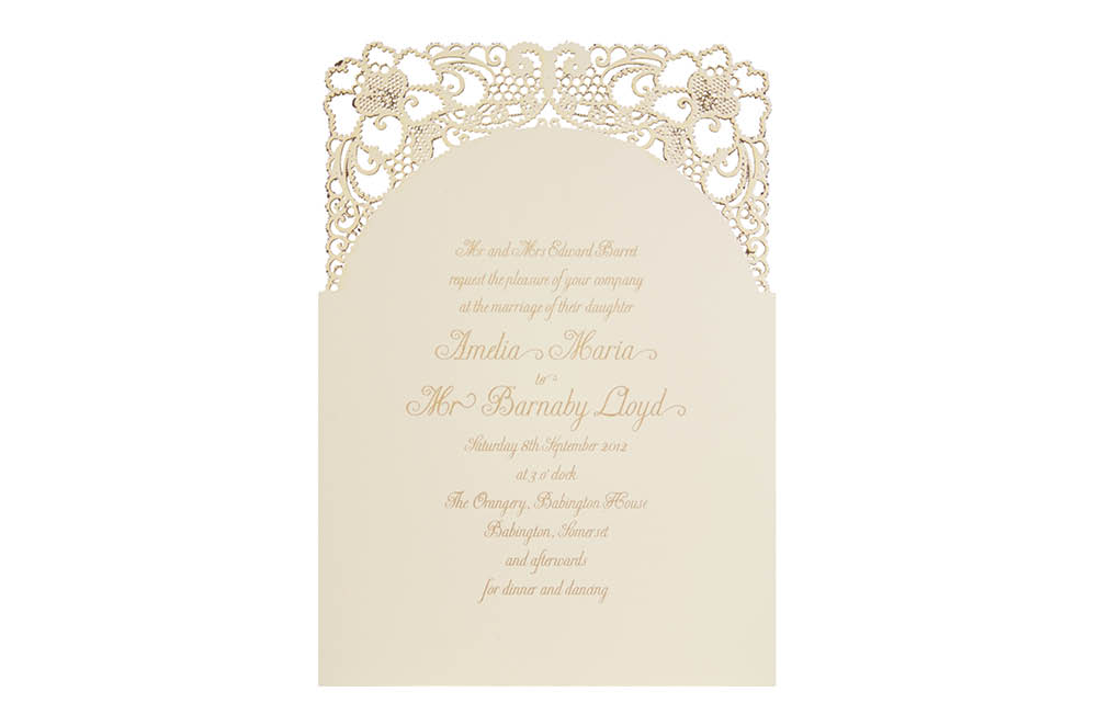 Chartula | A Little Lace Laser Cut Invitation | Natural #LaceInvitation #BohoWedding #VintageWedding #LaserCutInvitation | www.chartula.co.uk