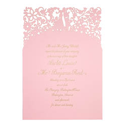 View romantic wedding invitations and information for Chartula A Little Romance Candy Pink.