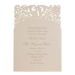 View romantic wedding invitations and information for Chartula A Little Romance Mist.