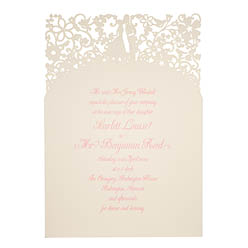 View romantic wedding invitations and information for Chartula A Little Romance Natural.