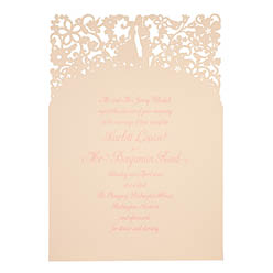 View romantic wedding invitations and information for Chartula A Little Romance Vintage Peach.