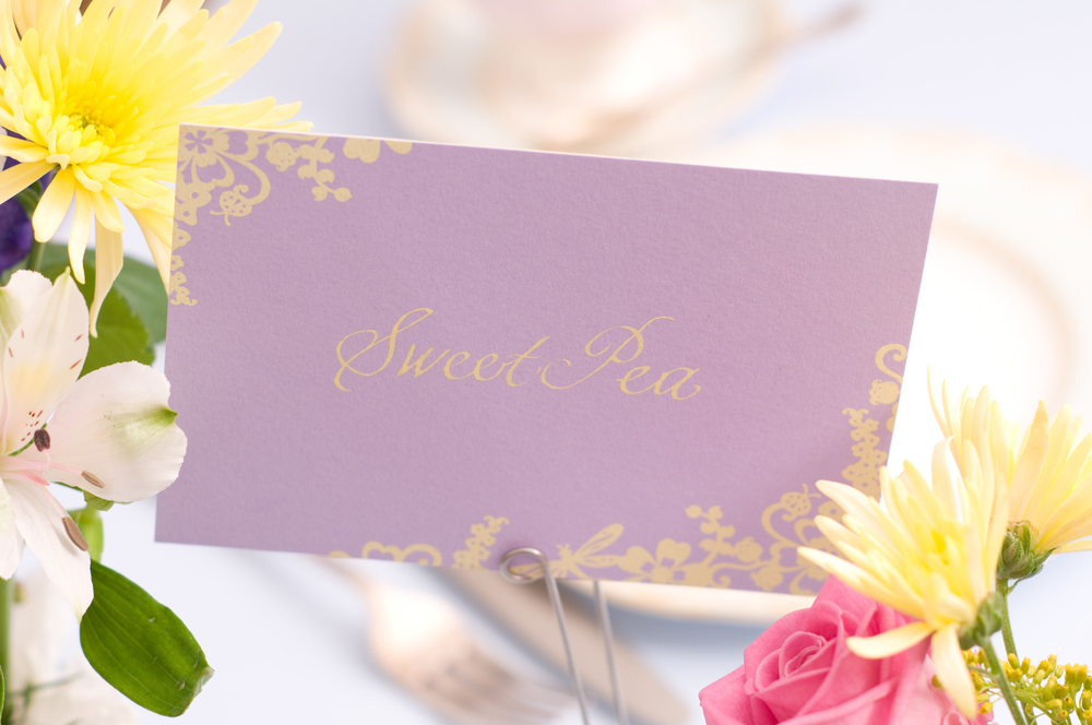 Chartula | Beau Jardin Bespoke Table Name Cards | Lavender #LuxuryWedding #FairytaleWedding #GardenWedding | www.chartula.co.uk