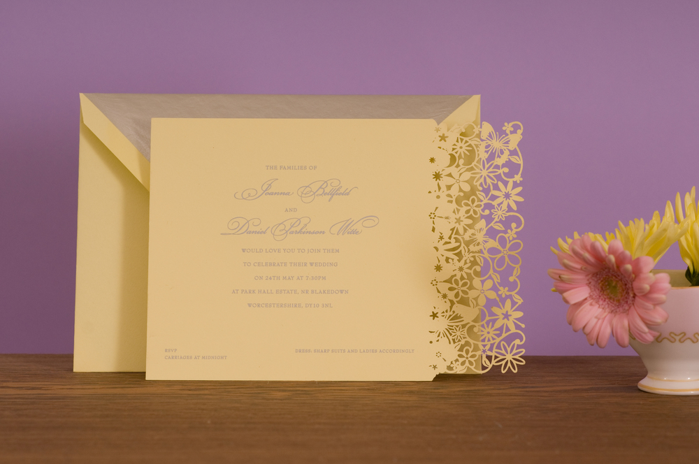 Petite Fairytale Laser Cut Menu Place Card