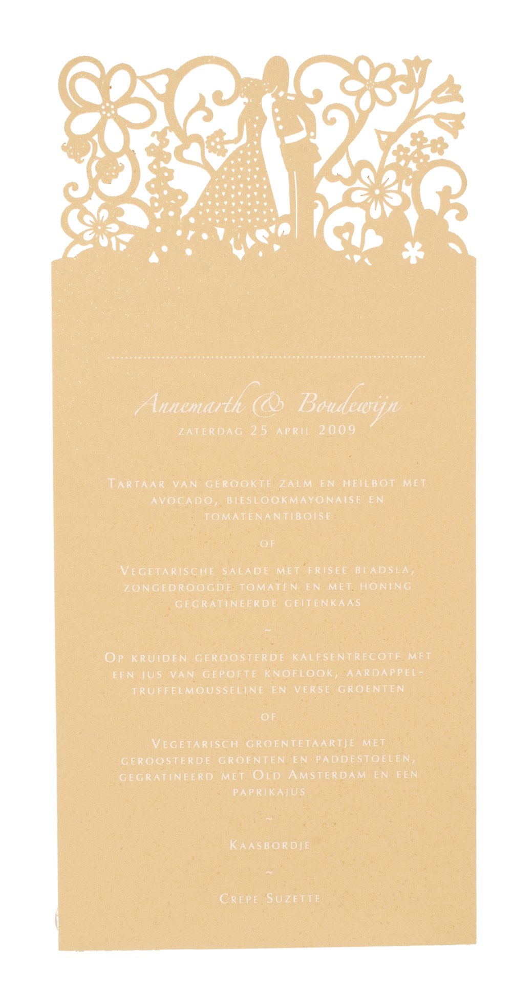 Chartula | Little City Tales Laser Cut Menu Place Card #LaserCut #LuxuryWedding | www.chartula.co.uk