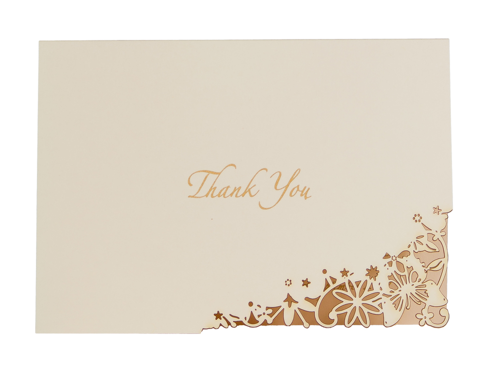 Chartula | Fairytale Bespoke Laser Cut Thank You Card | Natural #LuxuryWedding #FairytaleWedding #PrincessBride | www.chartula.co.uk