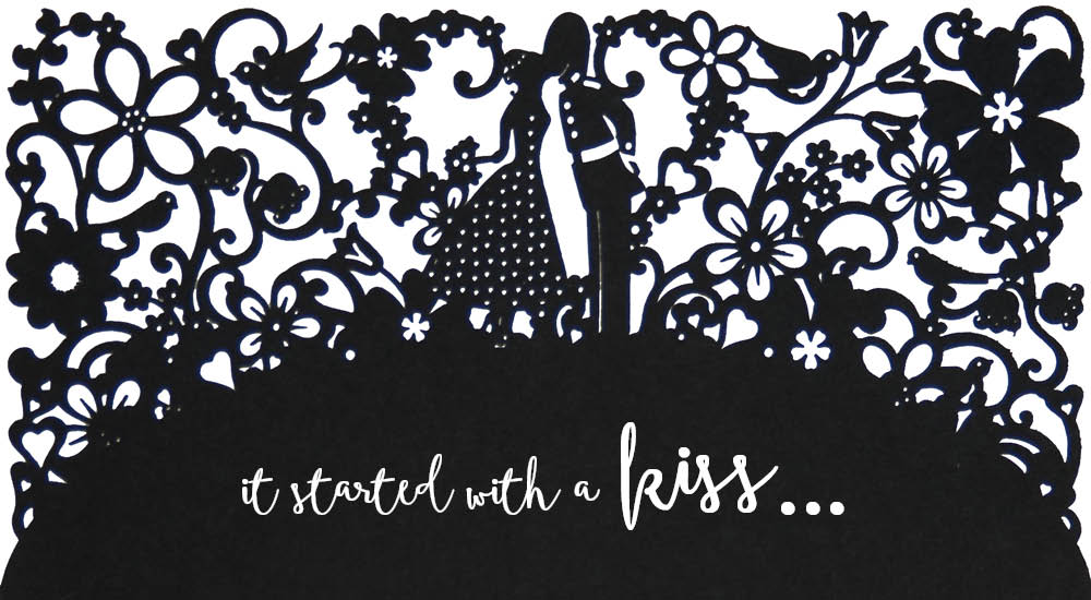 View laser cut wedding invitations in Chartula A Little Romance.